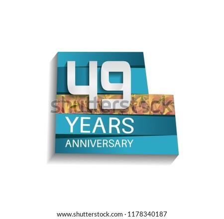 49 years anniversary design