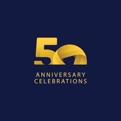 50 years anniversary design template.