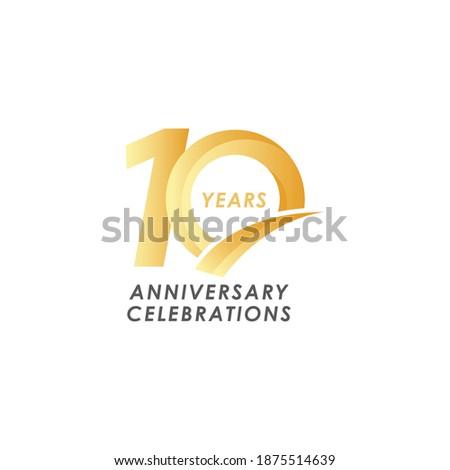 10 years anniversary design template. Foto stock ©