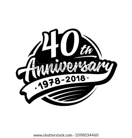 40 years anniversary design template. Vector and illustration. 40th logo.