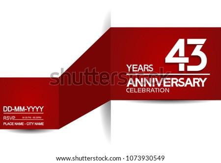 43 years anniversary design