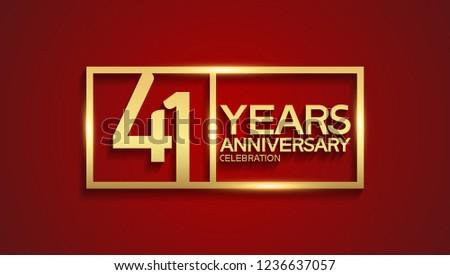 41 years anniversary golden
