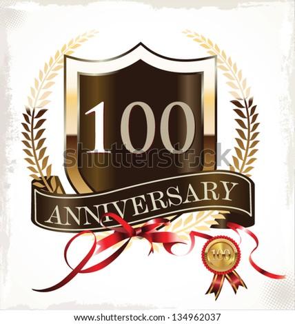 100 years anniversary golden label