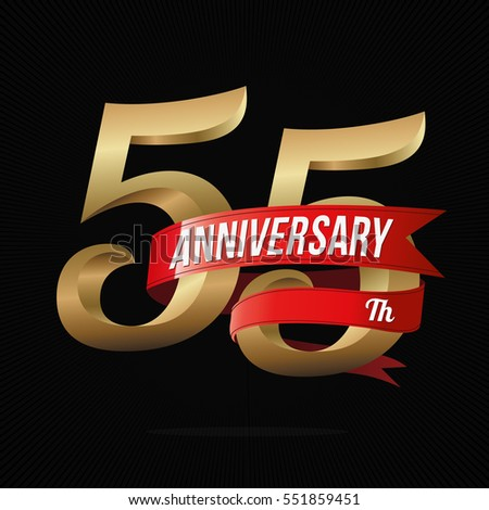 55 years anniversary golden...