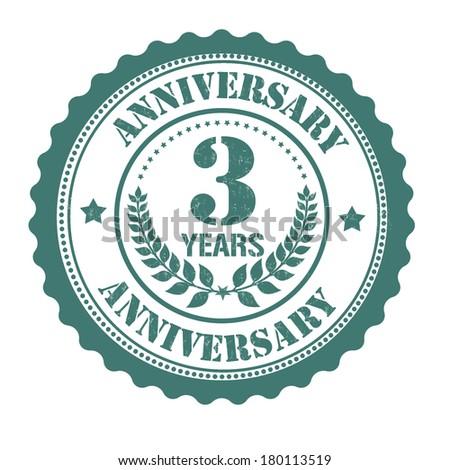 3 years anniversary grunge