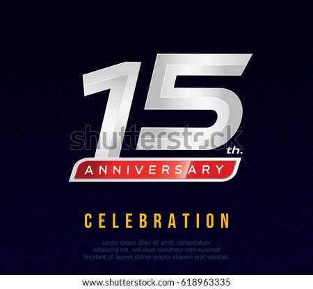 Fifteen Years Anniversary Celebration Logotype 15th Anniversary
