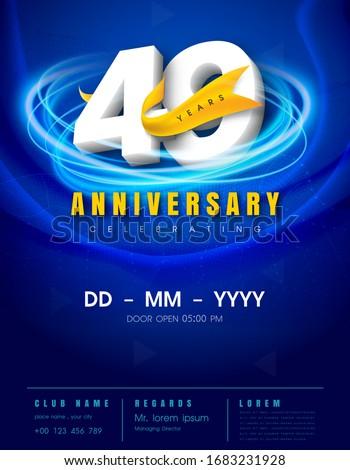 49 years anniversary invitation