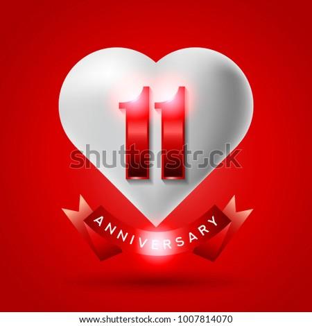 11 years anniversary logo