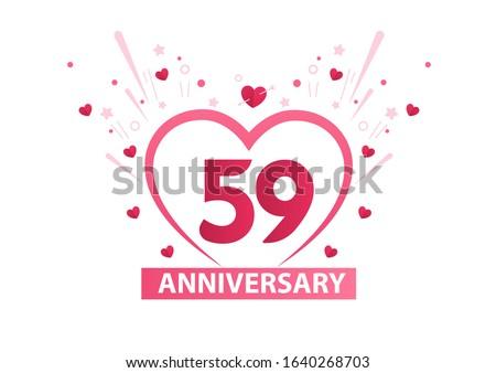59 years anniversary logo