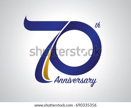70 years anniversary logo