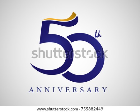 60th anniversary logo free vector download free vector art 50 years anniversary logo design with blue and old yellow color altavistaventures Image collections