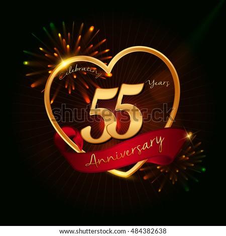 55 years anniversary logo...