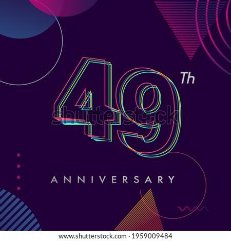 49 years anniversary logo