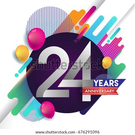 24 years anniversary logo with