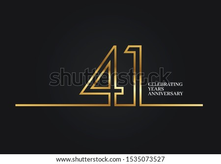 41 years anniversary logotype