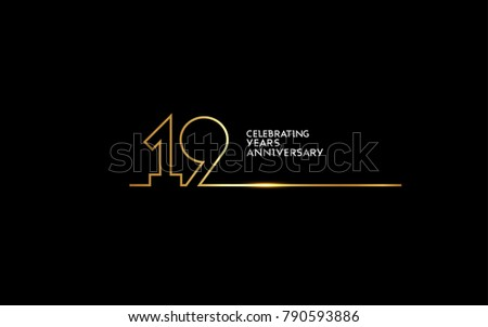 19 years anniversary logotype