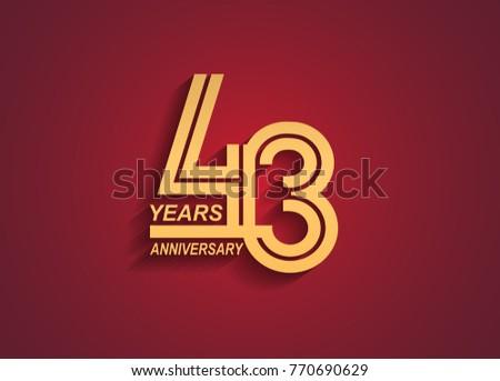 43 years anniversary logotype
