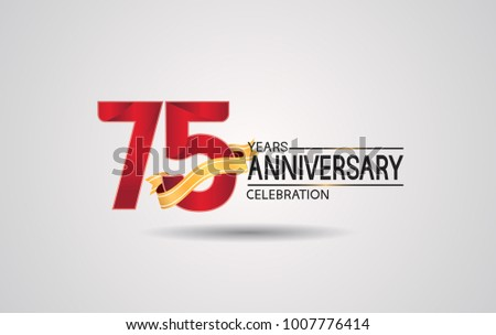 Red ribbon anniversary badge vectors download free vector art