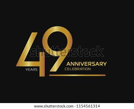 49 years anniversary logotype