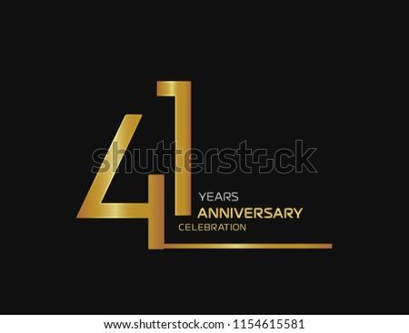 41 years anniversary logotype