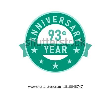 93 years anniversary modern