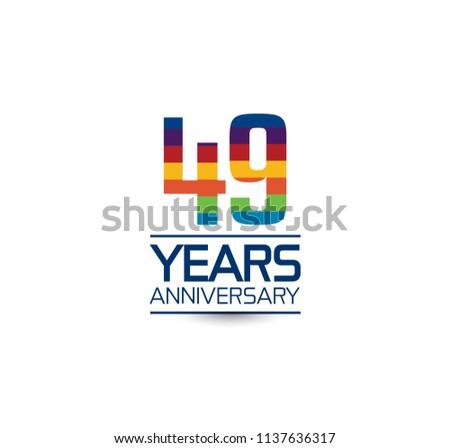 49 years anniversary rainbow