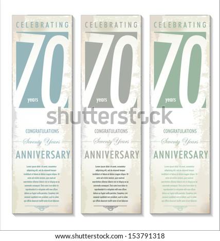70 years anniversary retro background
