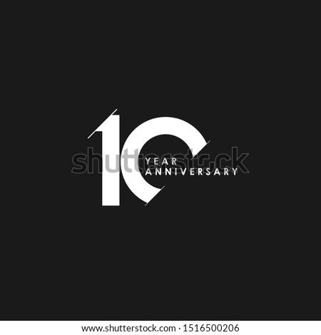 10 Years Anniversary Vector Template Design Illustration ストックフォト ©
