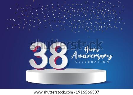 38 years anniversary vector