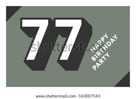 77 Years Birthday Card