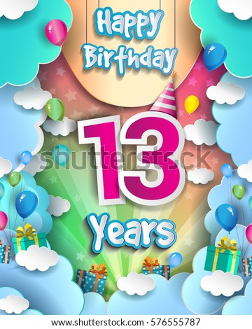 13 years birthday celebration