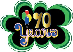 70 years black green and golden