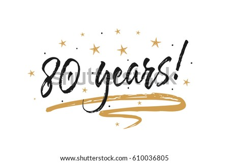 80 years card  banner....