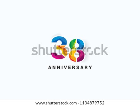 38 years colorful anniversary