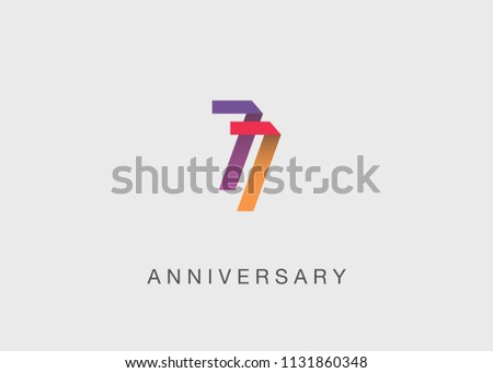 77 years colorful anniversary
