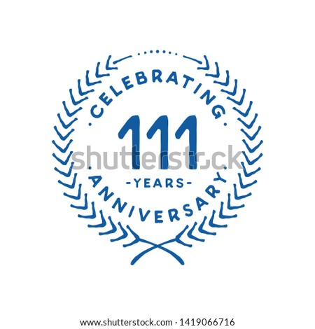 111 years design template