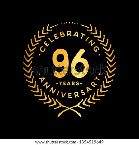 96 years design template. 96th vector and illustration.