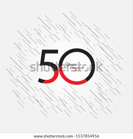 50 years old celebrating classic logo. Colored happy anniversary template numbers. Greetings celebrates. Traditional framed digits of ages. Special prize, % off, O or 0. Card's or label's idea.