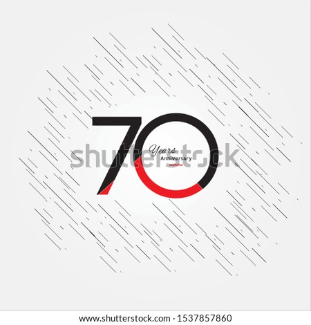 70 years old celebrating classic logo. Colored happy anniversary 70 template numbers. Greetings celebrates. Traditional framed digits of ages. Special prize, % off, O or 0. Card's or label's idea.