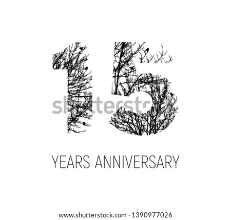 15 years old logo letter made
