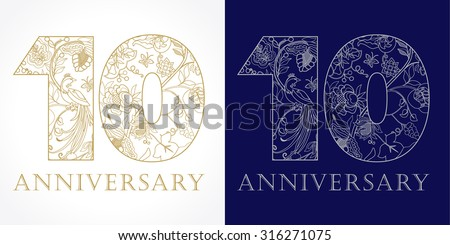 Th anniversary illustration download free vector art stock
