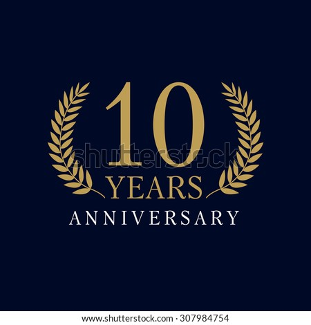 10 years old luxurious logo....