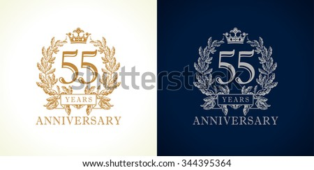 55 years old luxurious logotype....