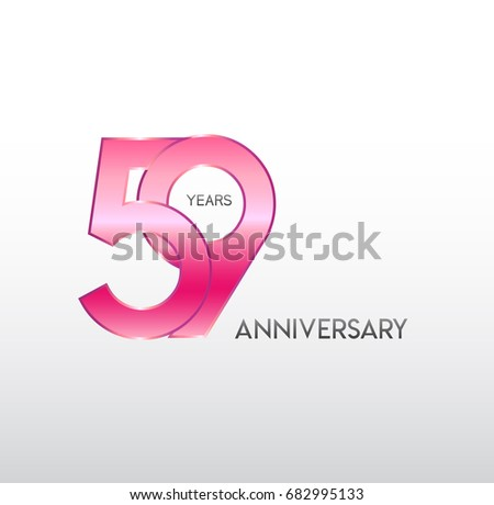 59 years pink anniversary with