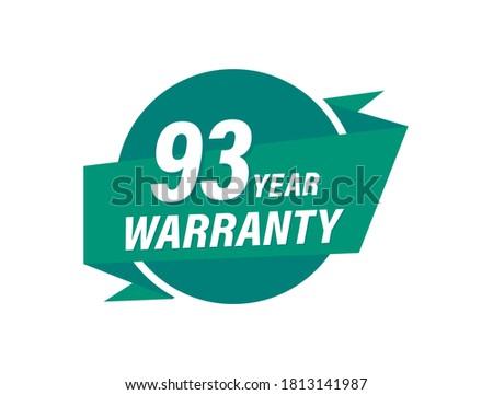 93 years warranty badge vector