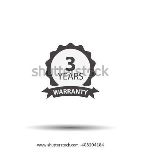 3 years warranty icon isolated on white background Stock photo ©