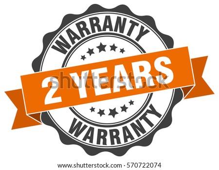 2 years warranty. stamp. sticker. seal. round grunge vintage ribbon 2 years warranty sign Stock photo ©