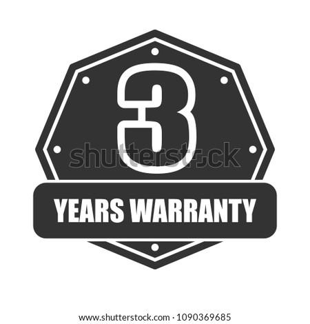 3 years warranty vector  iron