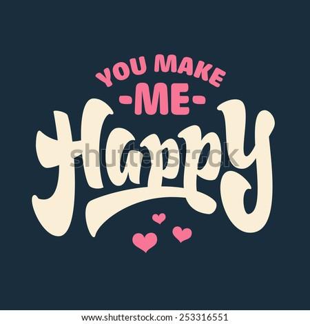 'you make me happy' hand