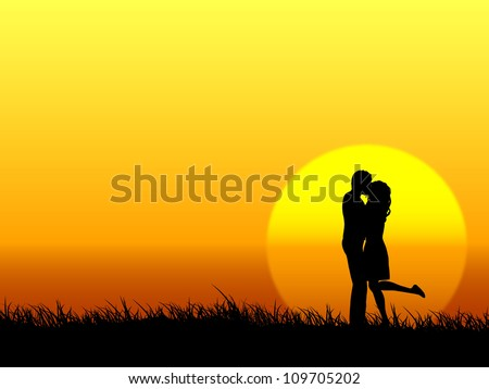 young couple - stock vector